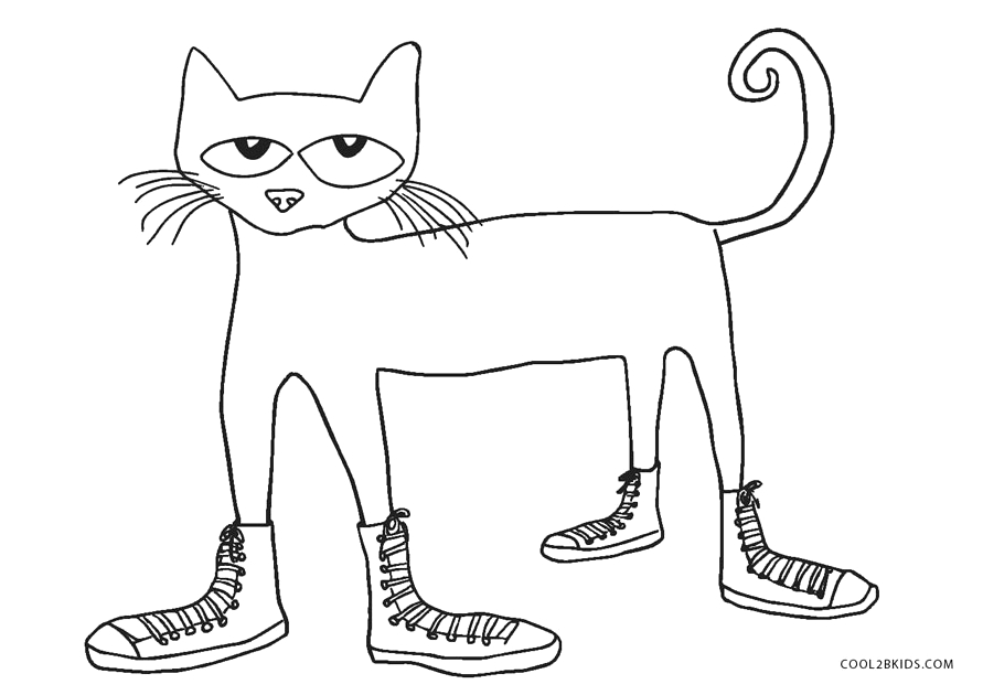 pete the cat easter coloring pages