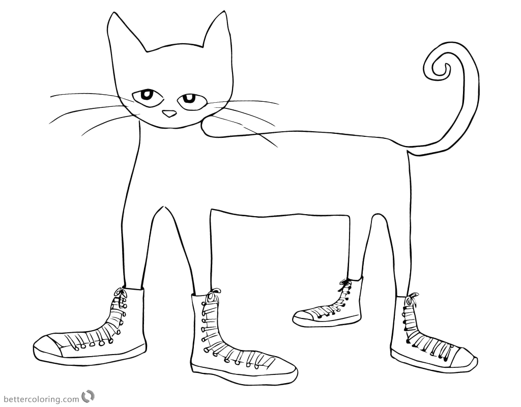 i love my white shoes pete the cat coloring sketch templates