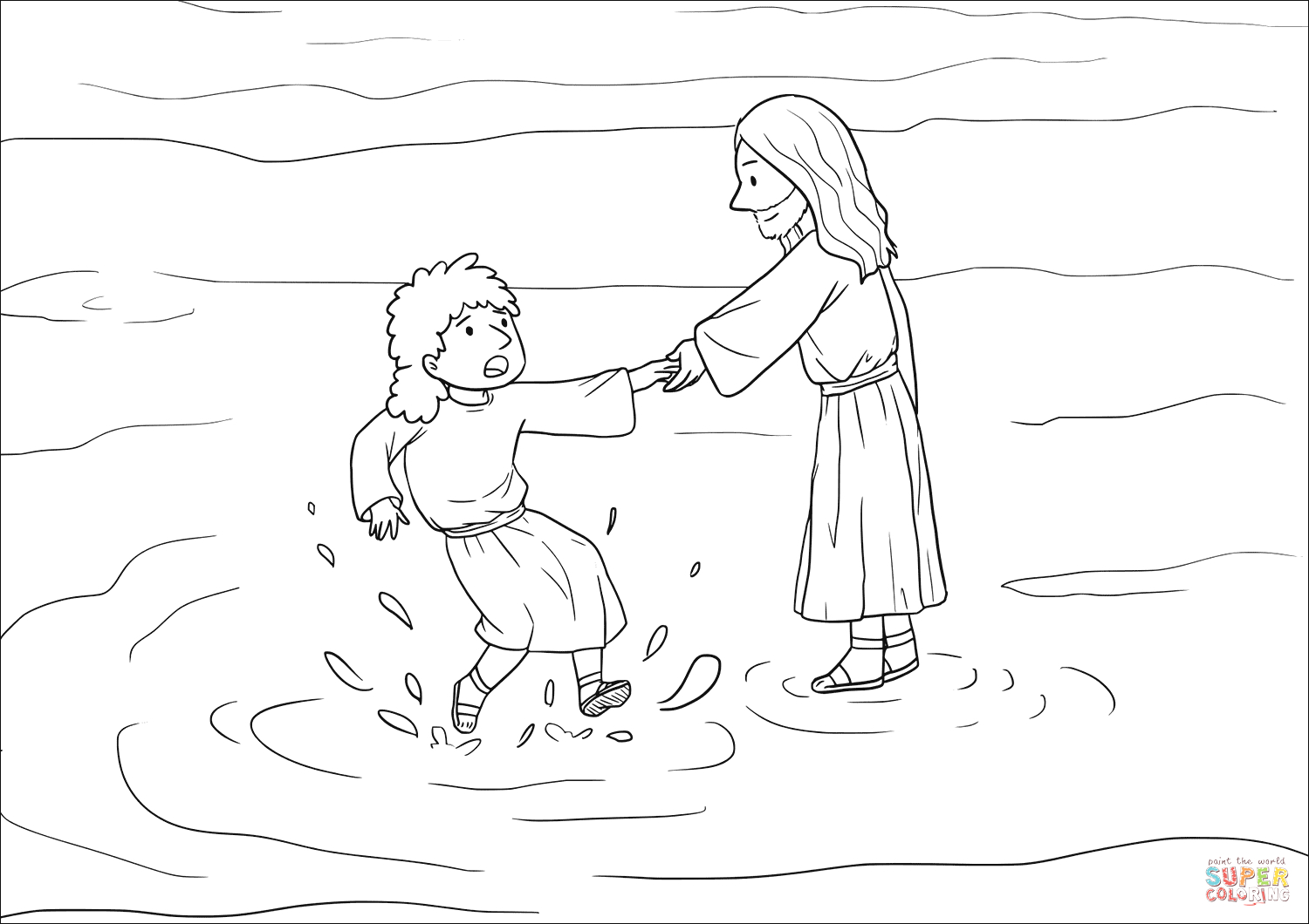 peter got down out of the boat walked on the water and came toward jesus
