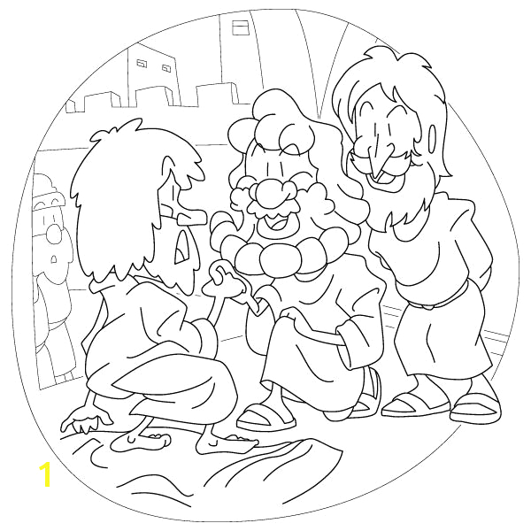 peter heals the lame man coloring page