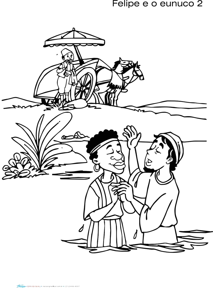 Philip and the Ethiopian Eunuch Coloring Page Ethiopian Eunuch Coloring Page Coloring Home