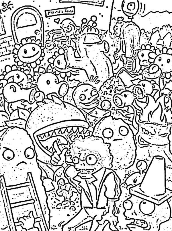 Plants Vs Zombies Coloring Pages All Plants Plants Vs Zombies Coloring Pages All Plants at Getdrawings