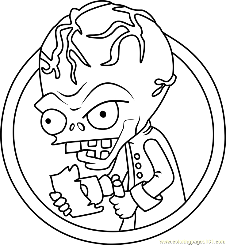 Plants Vs Zombies Coloring Pages Dr Zomboss Dr Zomboss Coloring Page Free Plants Vs Zombies