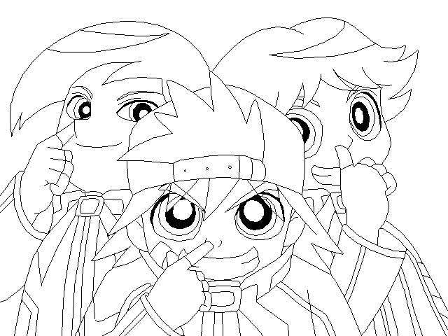 rowdyruff boys coloring pages