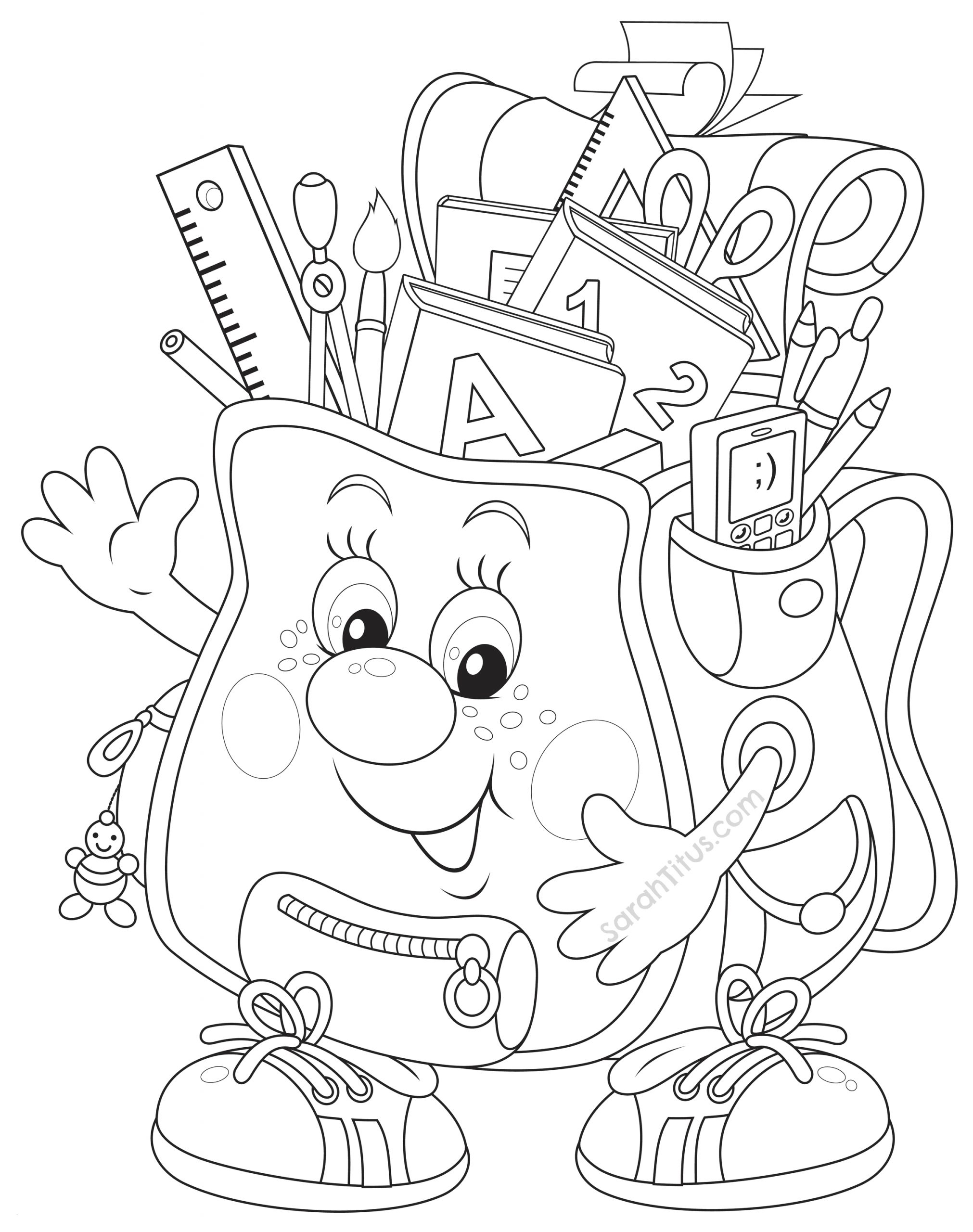Pre K Back to School Coloring Pages Pre K Coloring Pages Kindergarten Back to School Coloring