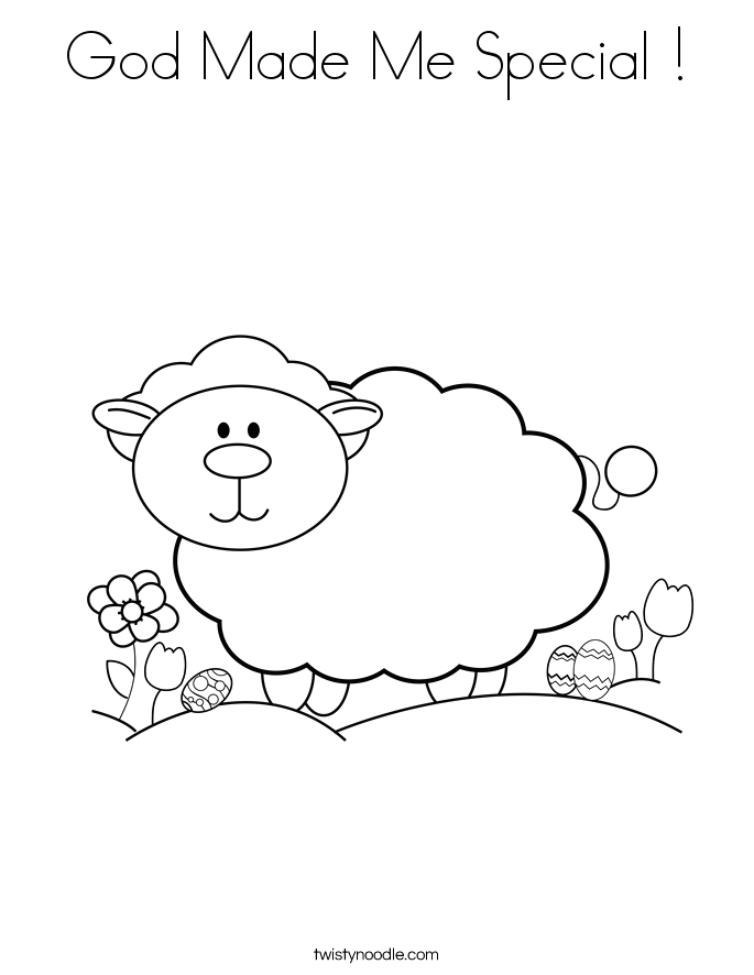 god made me special 8 coloring page
