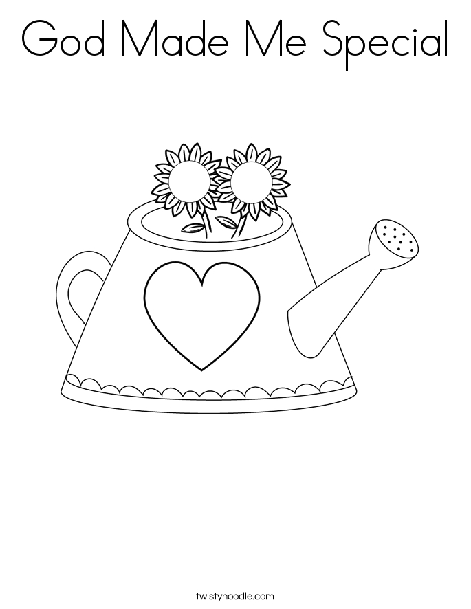 god made me special 4 coloring page