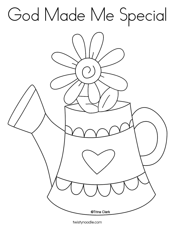 god made me special coloring pages