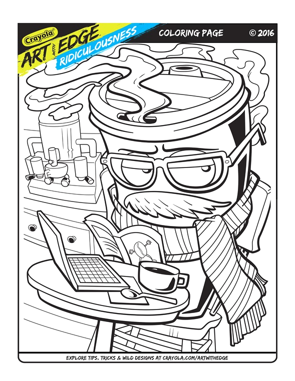 art with edge ridiculousness coloring page