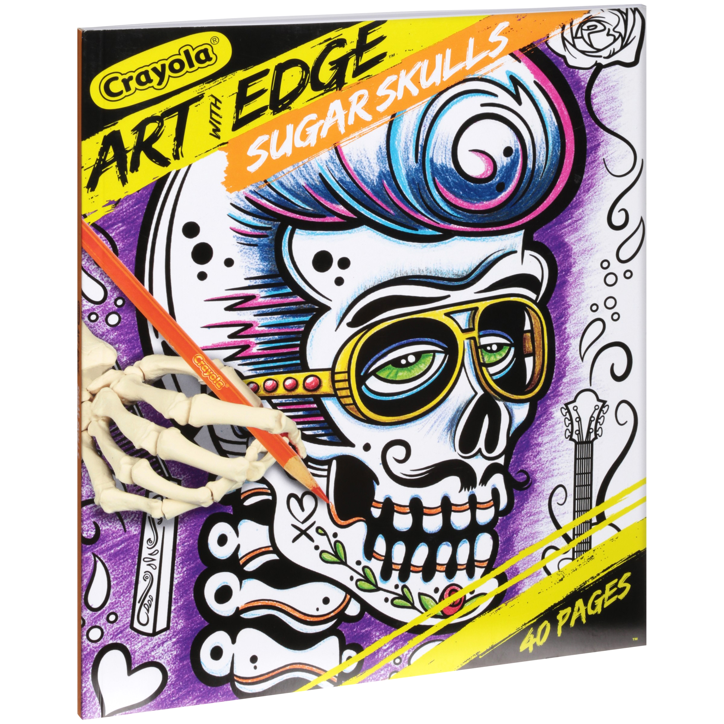 Printable Crayola Art with Edge Coloring Pages Crayola Art with Edge Coloring Book Bundle Sugar Skulls