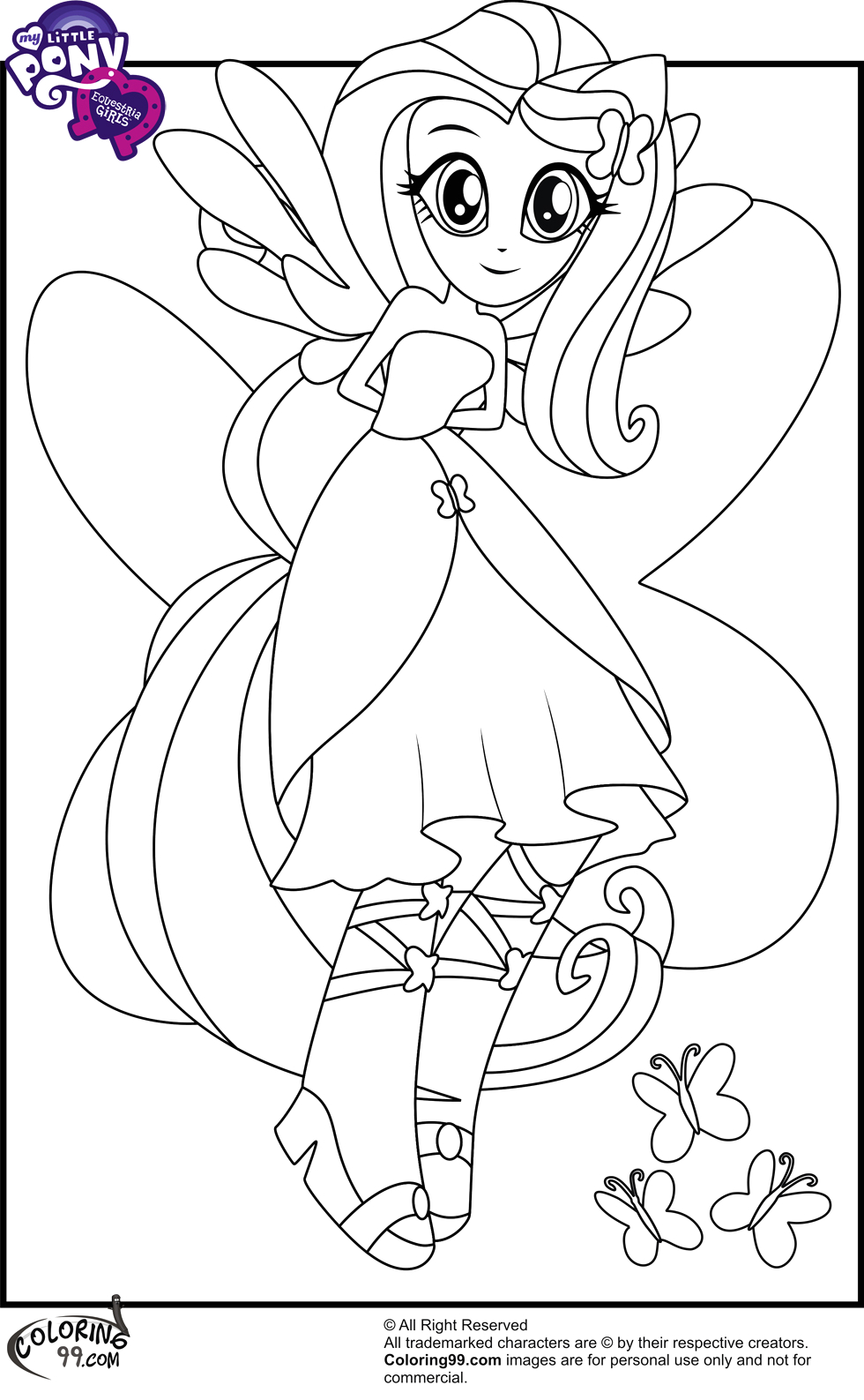 my little pony equestria girl coloring