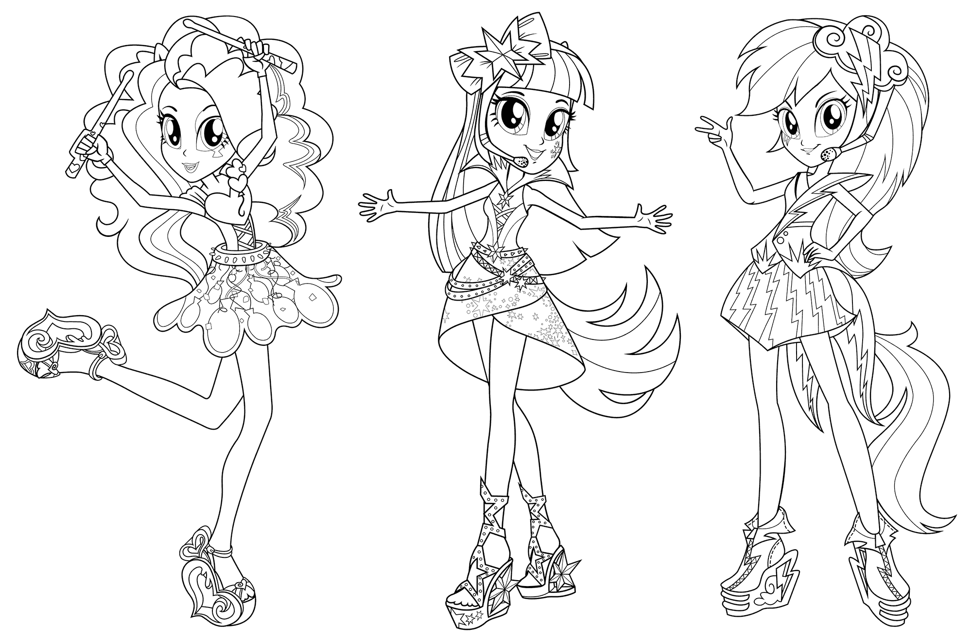 my little pony equestria girl rainbow dash coloring pages
