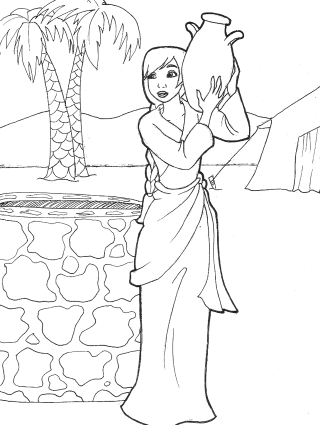 samaritan woman well coloring pages childrens lesson