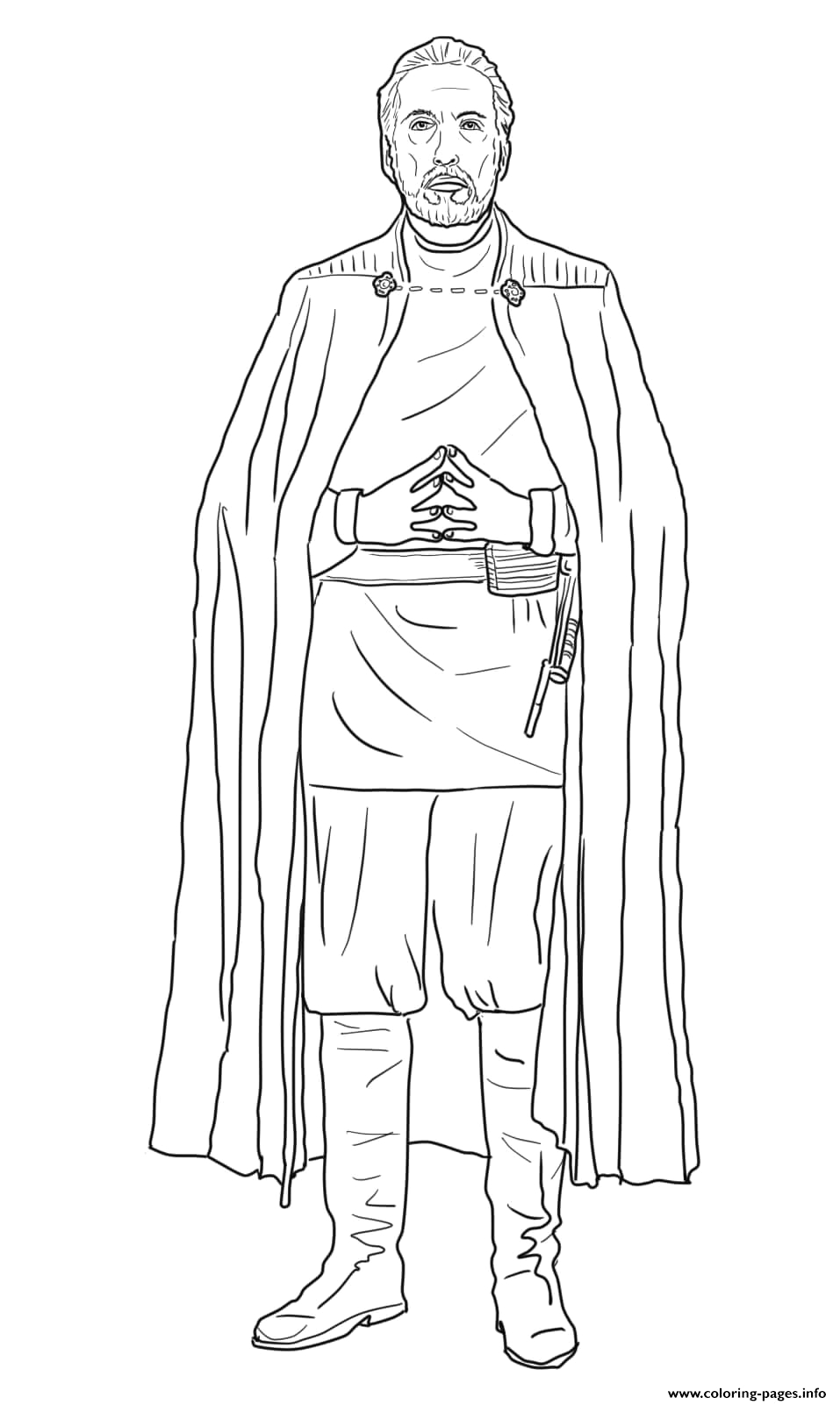 count dooku star wars episode ii of the clones printable coloring pages book