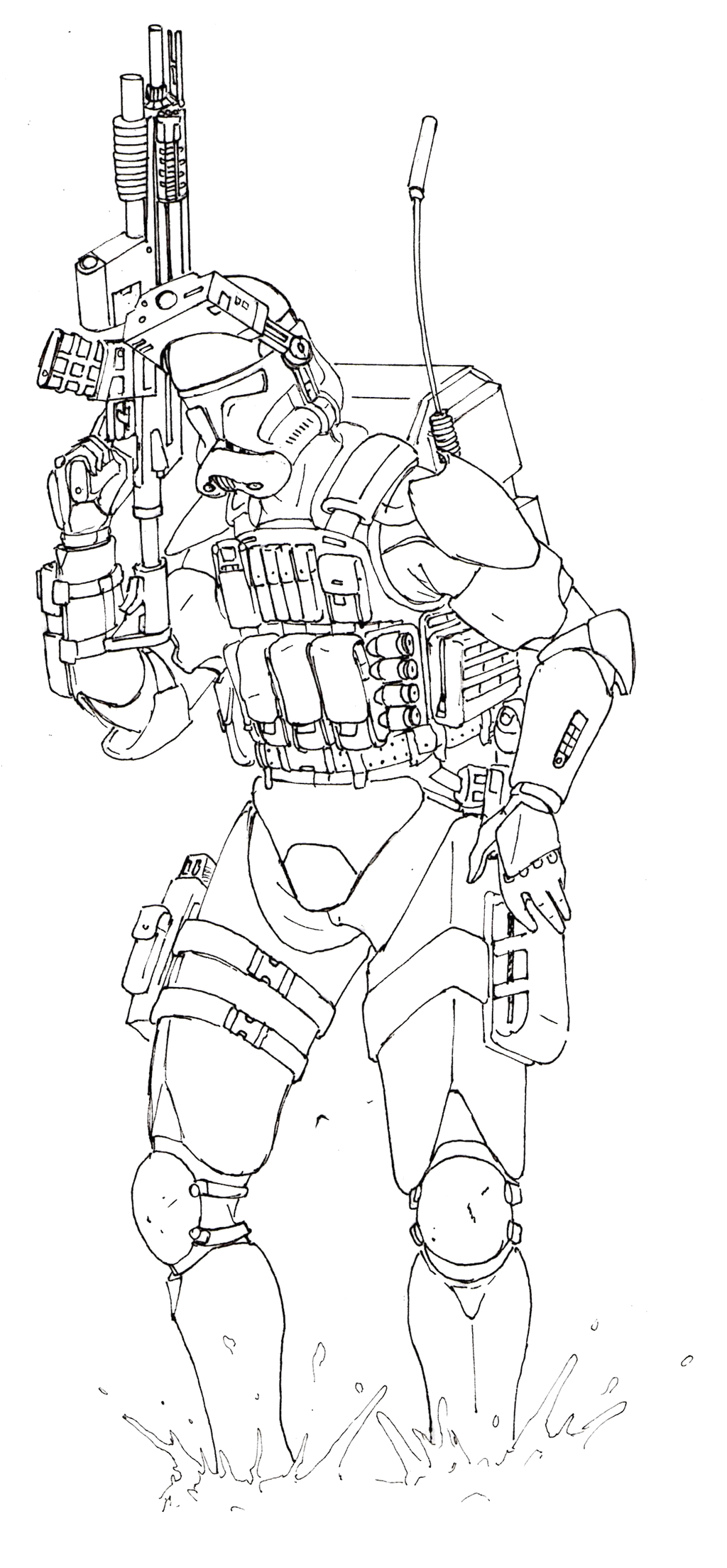 501st clone trooper coloring pages sketch templates
