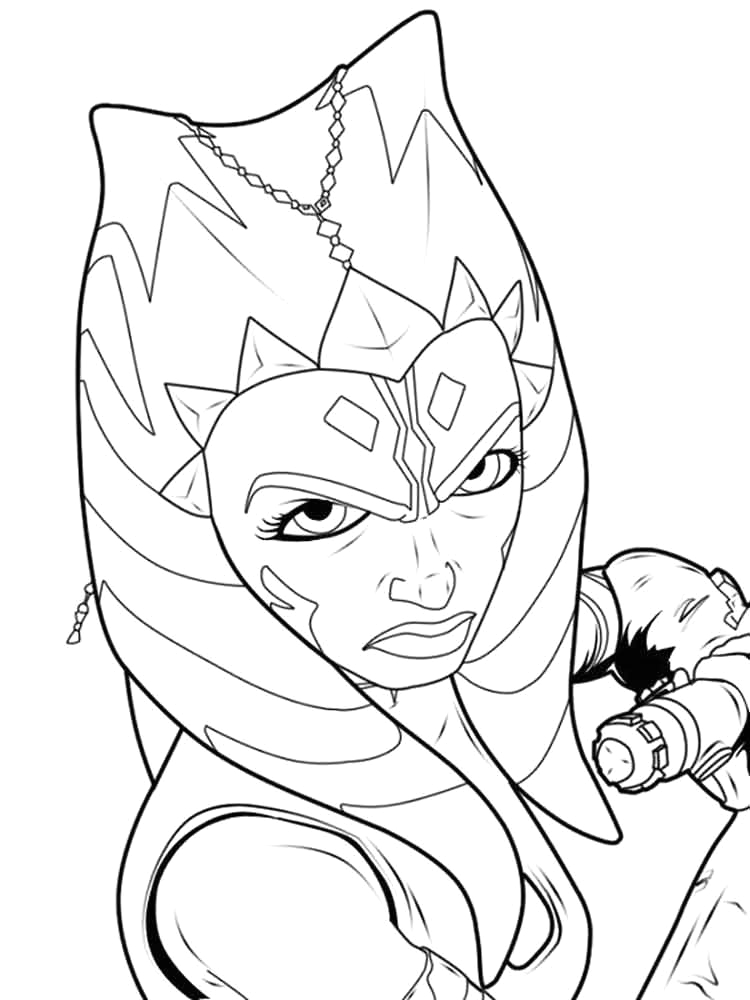 Star Wars the Clone Wars Ahsoka Coloring Pages Ahsoka Coloring Pages Free Printable Ahsoka Coloring Pages