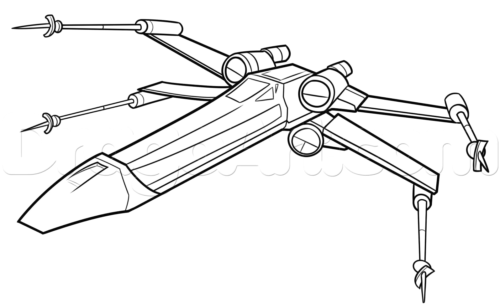 star wars x wing coloring pages