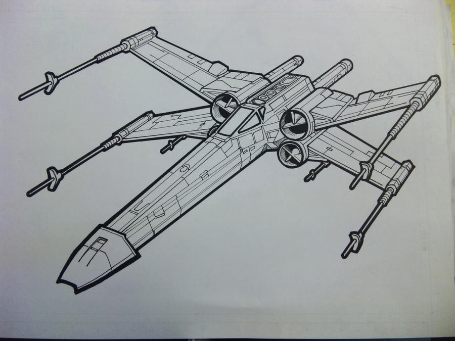 x wing lineart