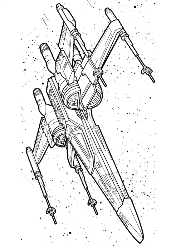 x wing starfighter coloring pages