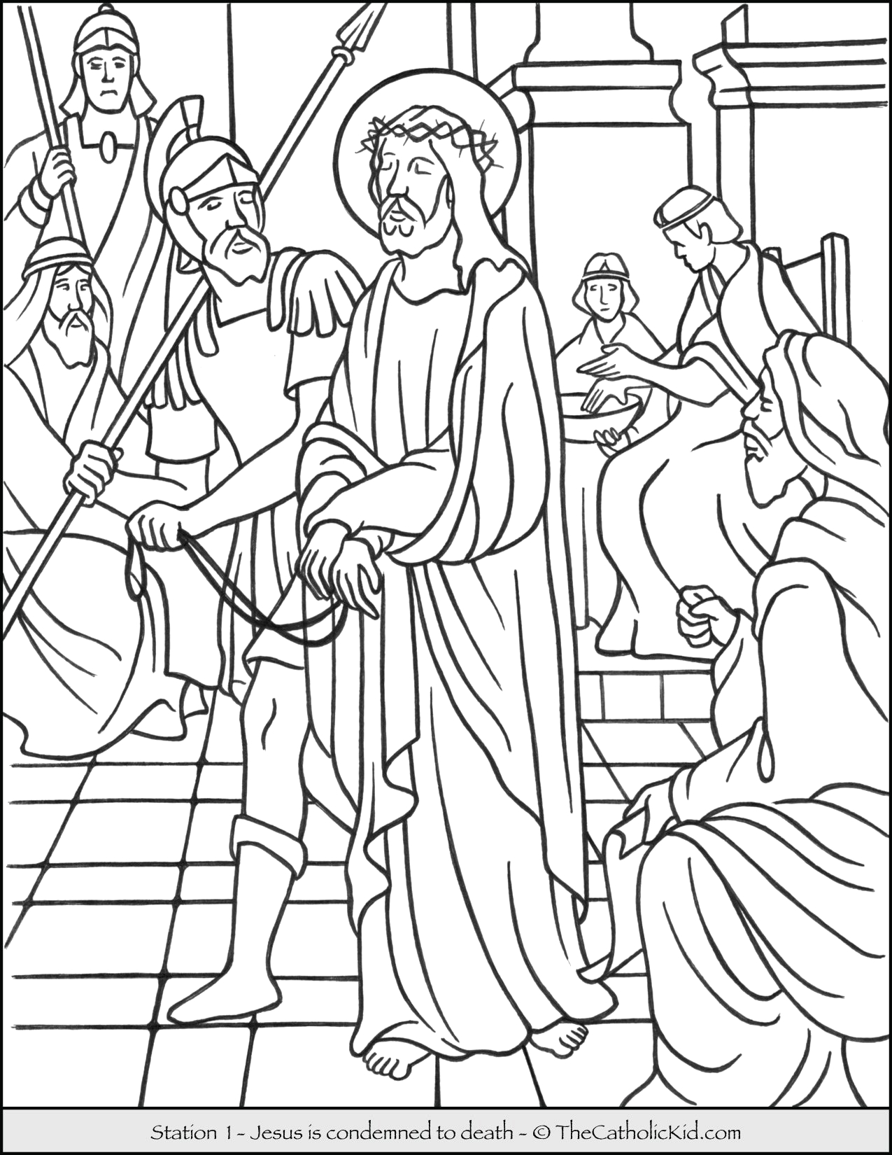 stations of the cross catholic coloring pages for kids cnt mls