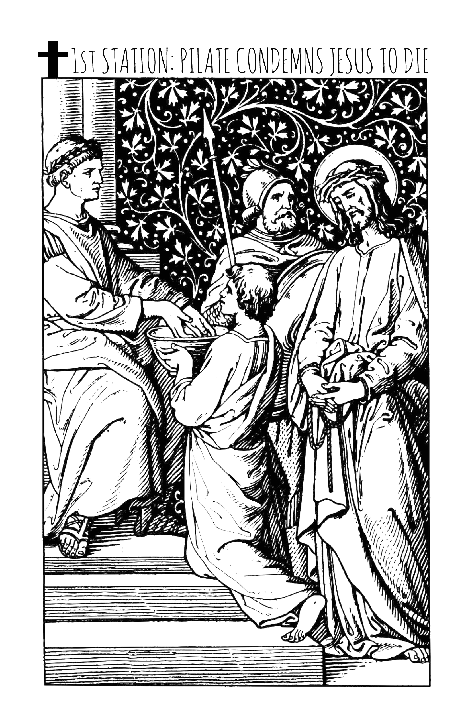 stations of the cross printable coloring book