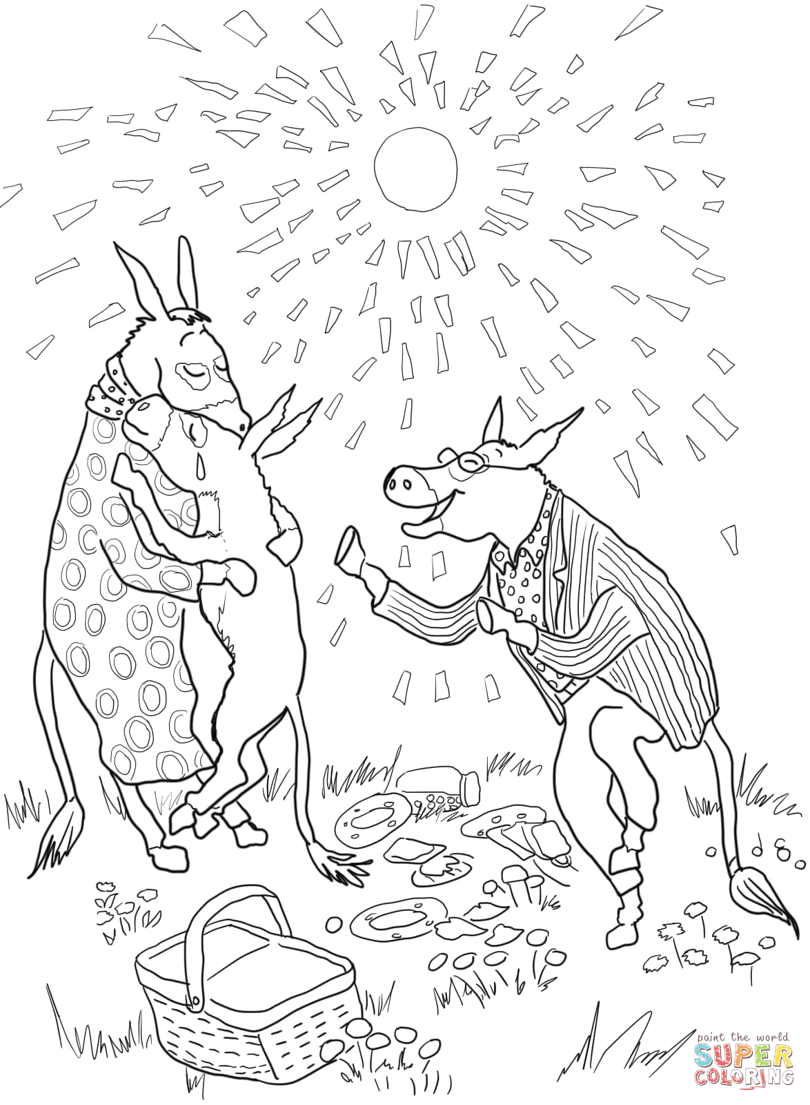Sylvester and the Magic Pebble Coloring Page Sylvester and the Magic Pebble Coloring Page Coloring Home