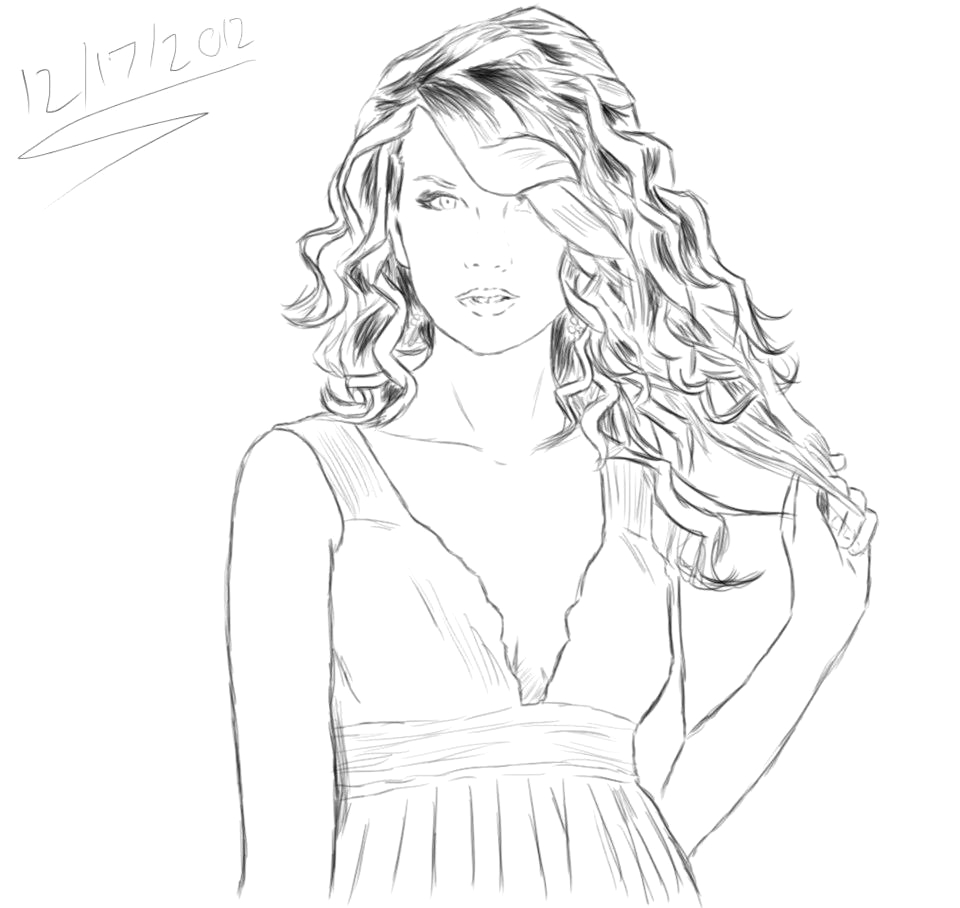 2013 taylor swift coloring page sheets sketch templates