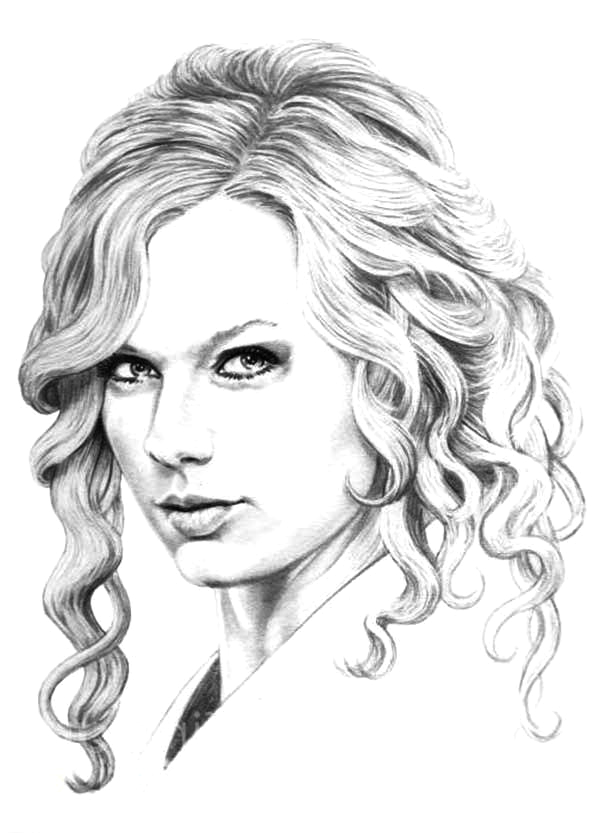 free taylor swift coloring pages printables