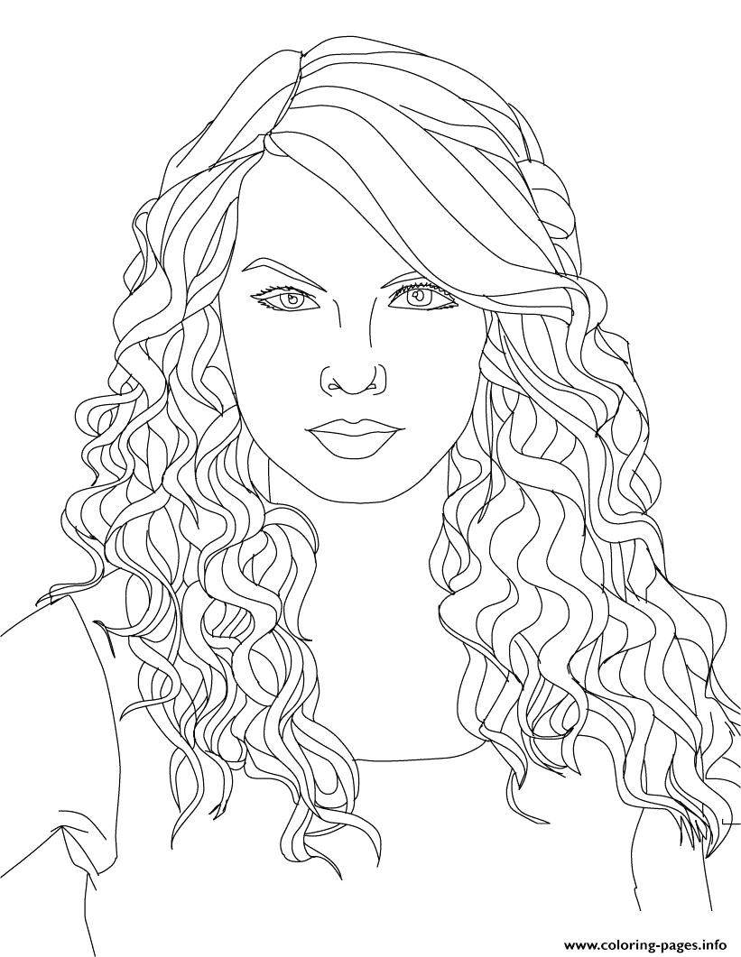 Taylor Swift Coloring Pages to Print Out Taylor Swift 2 Coloring Pages Printable