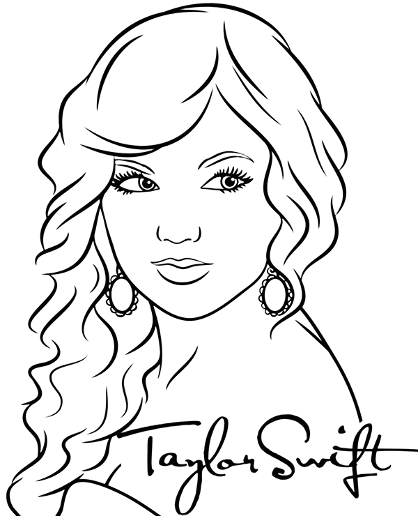 taylor swift pages sketch templates