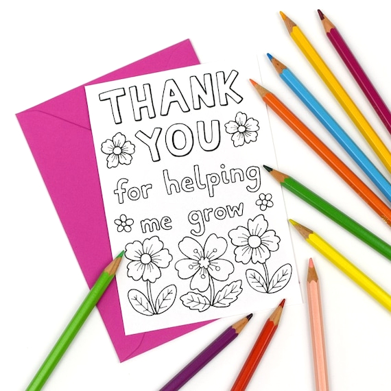 printable colour in thank you for