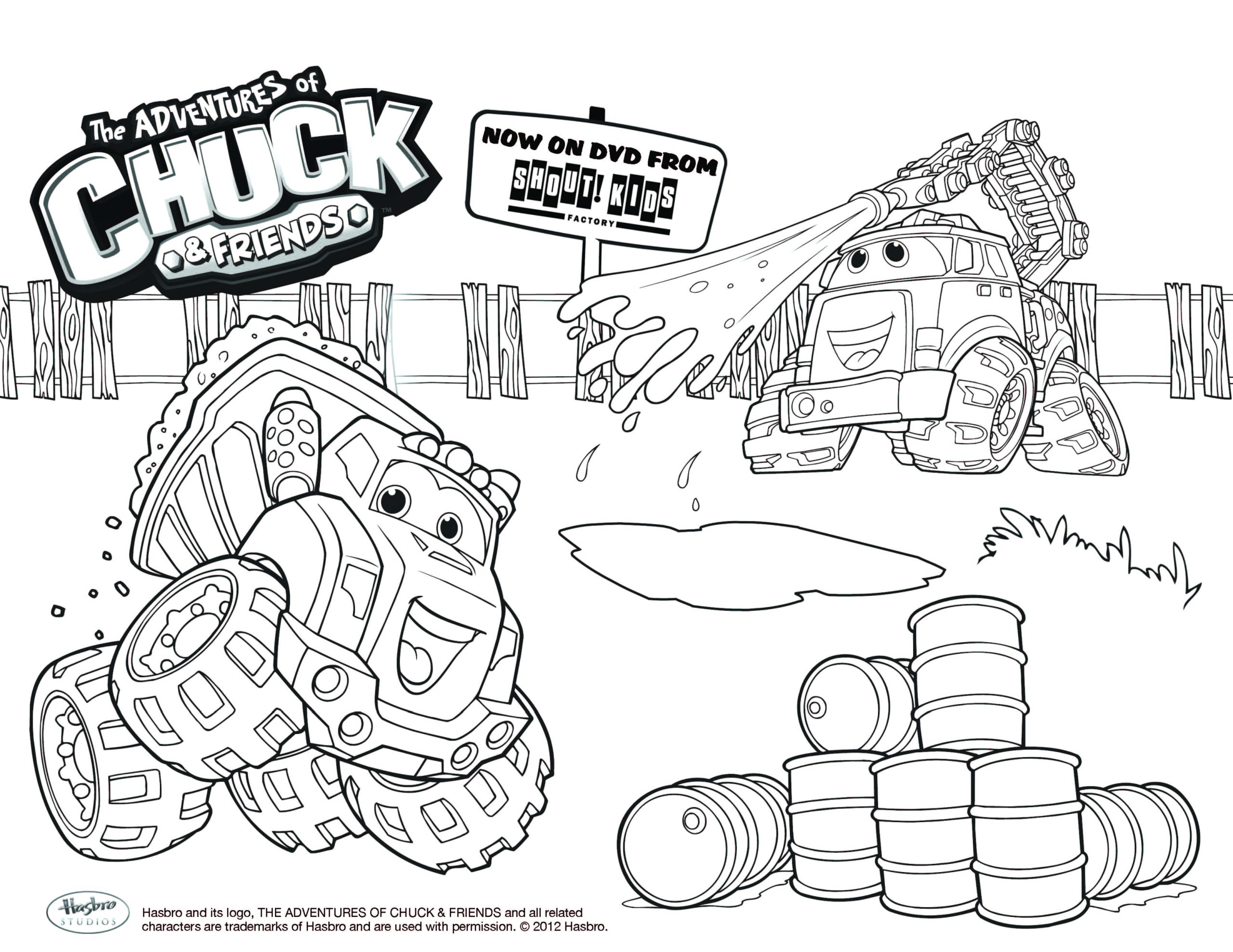 """The Adventures Of Chuck and Friends Coloring Pages """"chuck & Friends"""" Coloring Sheet Utfactory"""