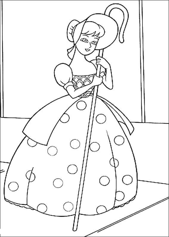 bo peep coloring pages