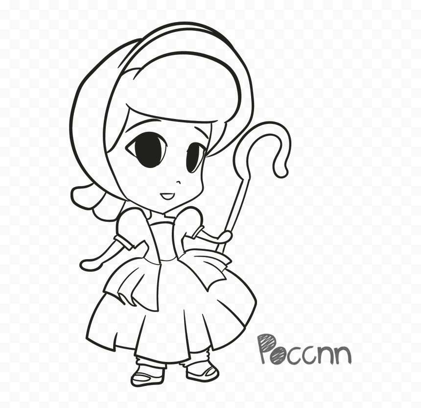 bo peep toy story 4 coloring page