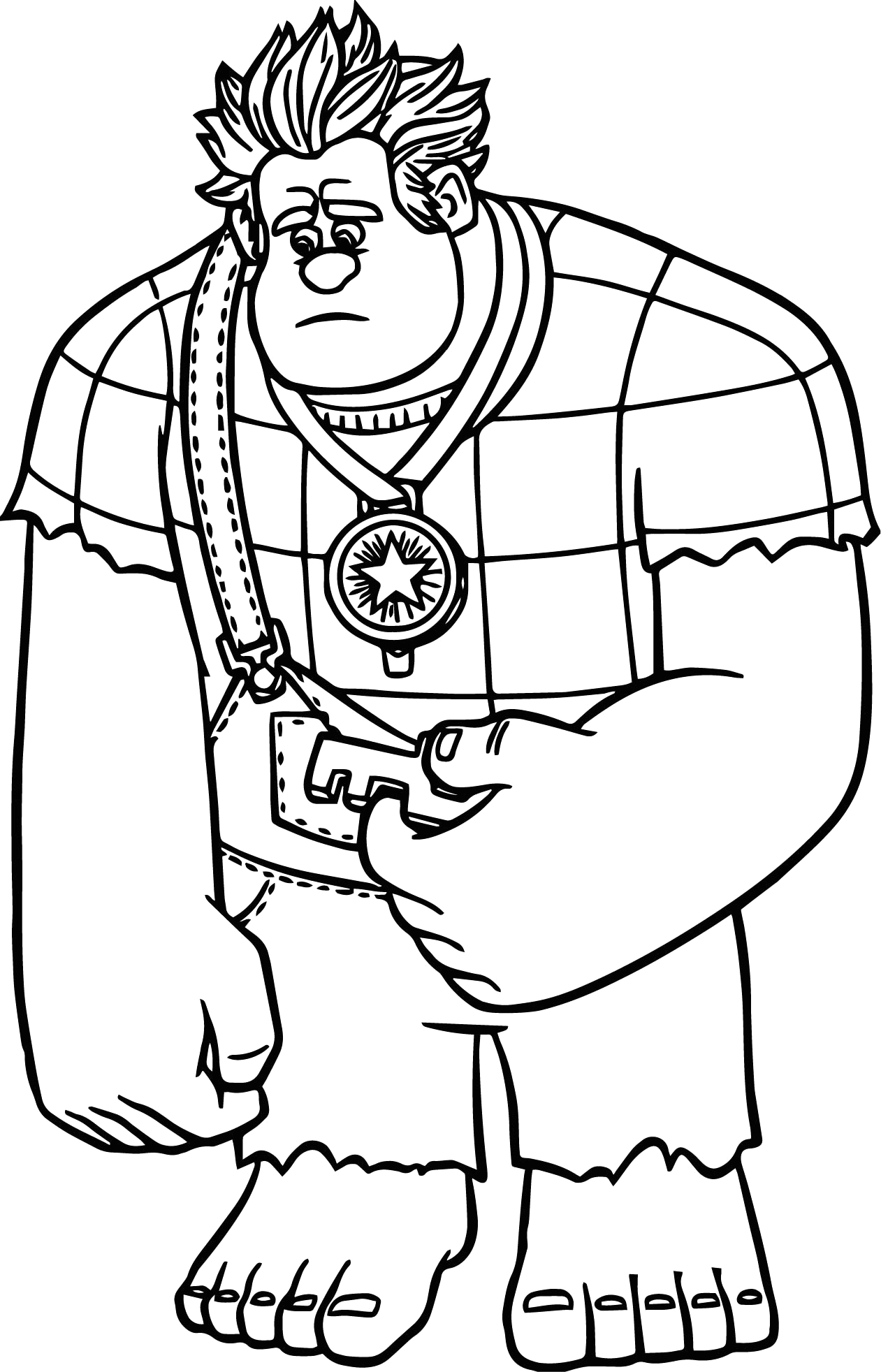 Wreck It Ralph Coloring Pages for Kids Wreck It Ralph Coloring Pages at Getdrawings