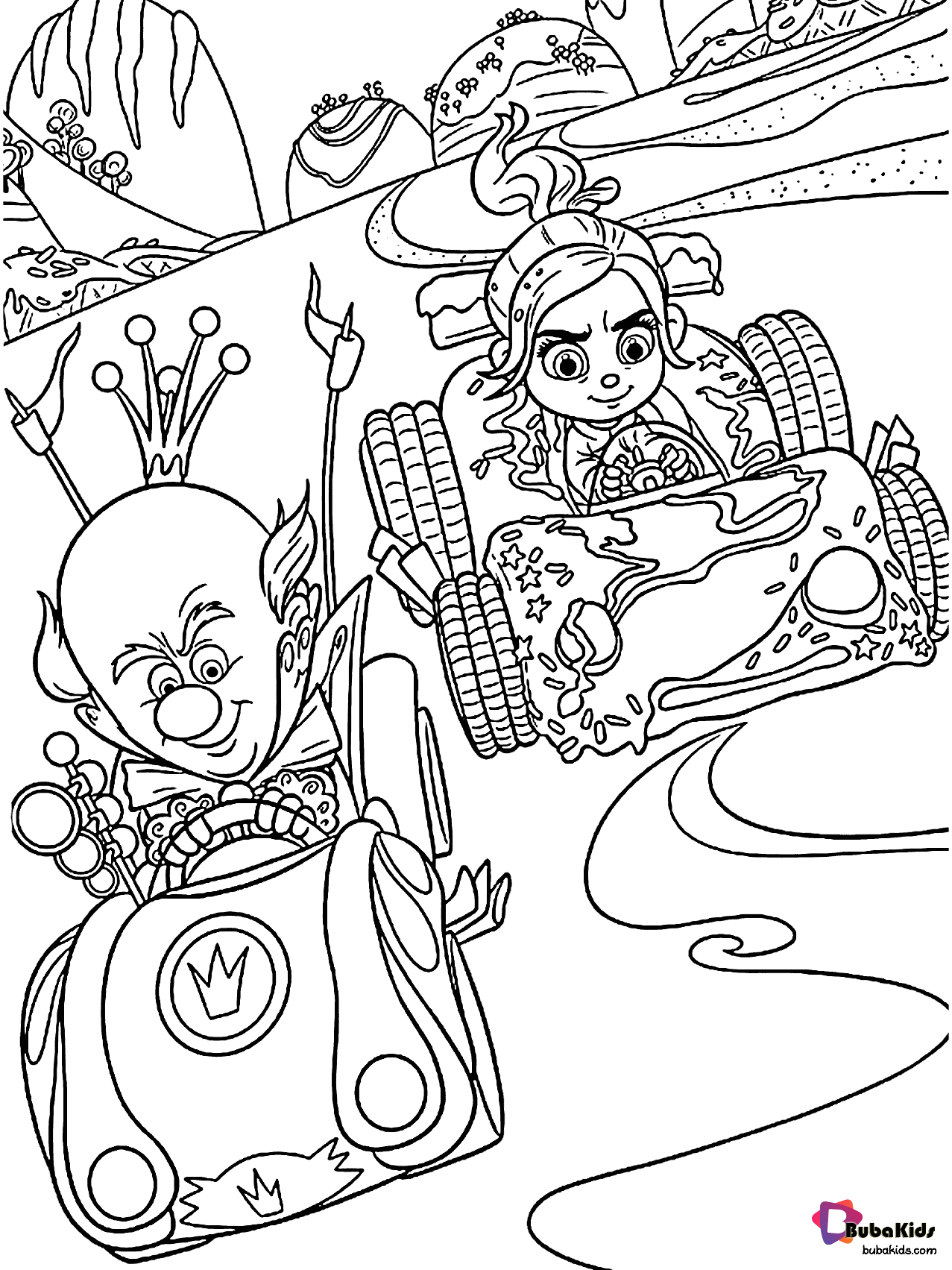 disneys wreck it ralph free and printable coloring page