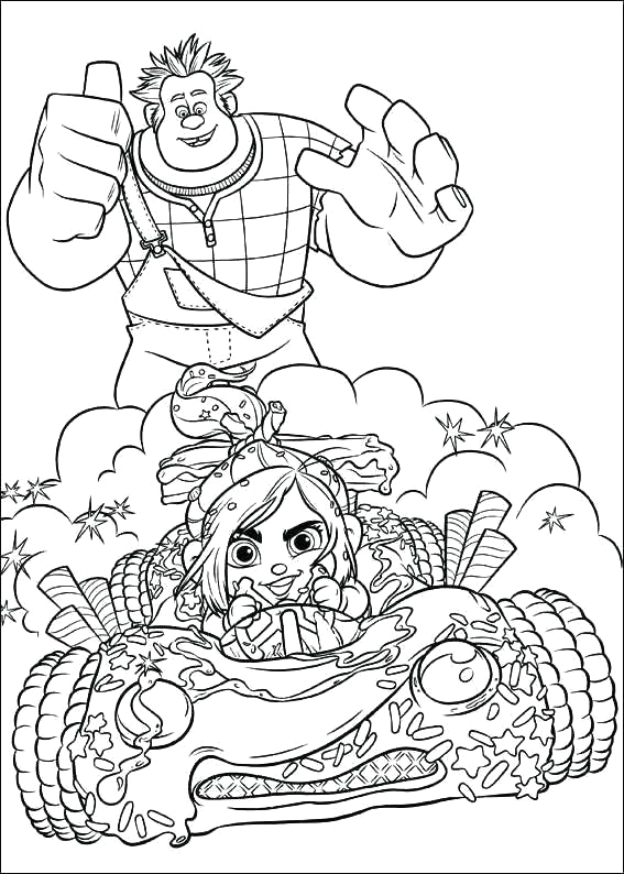 sugar rush coloring pages