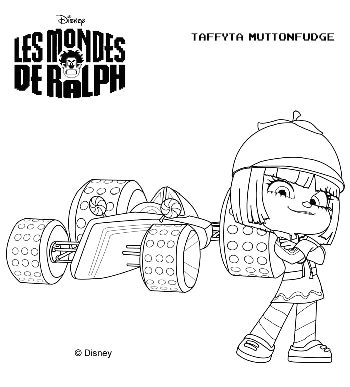 sugar rush wreck it ralph coloring pages