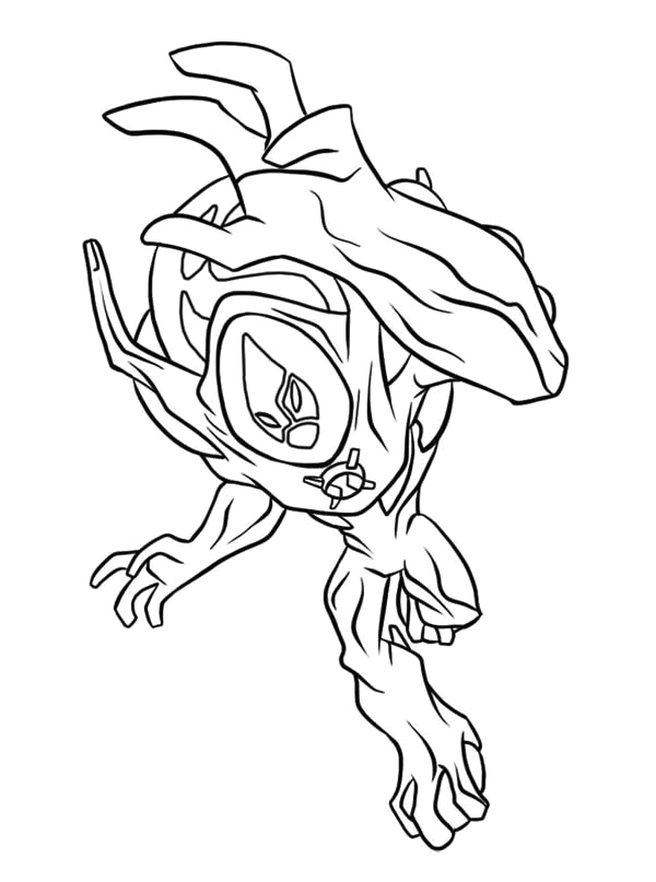 ultimate swampfire from ben 10 ultimate alien coloring page