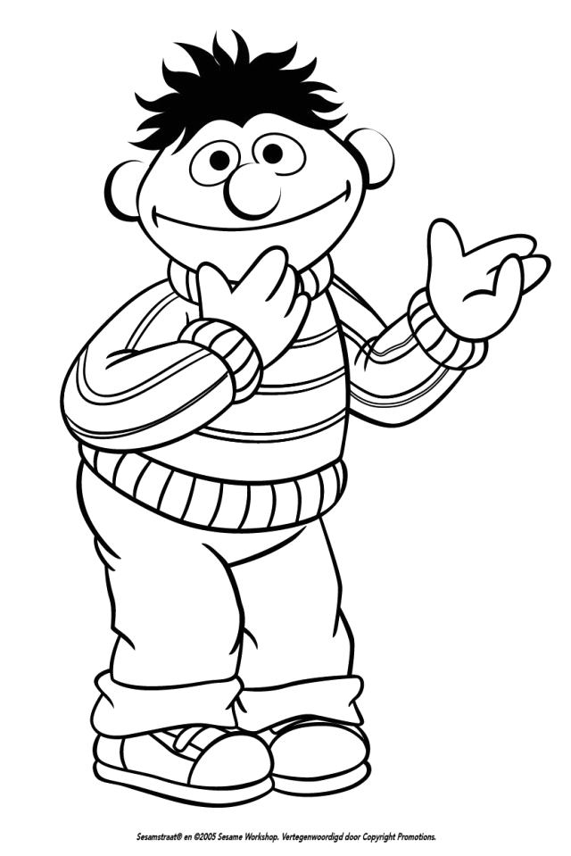 burt and ernie coloring pages