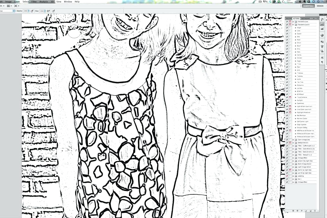 turn your photos into coloring pages