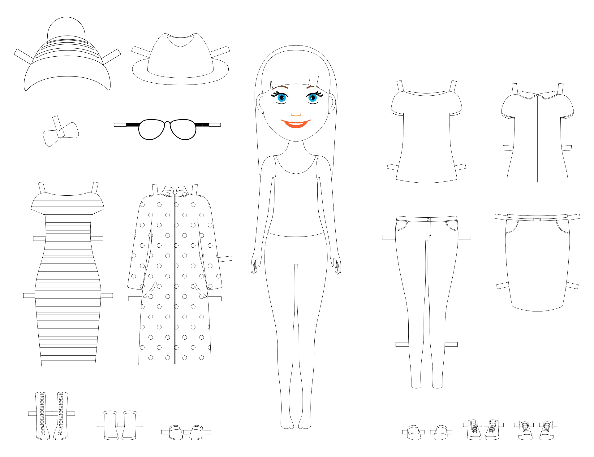 post printable paper dolls to color