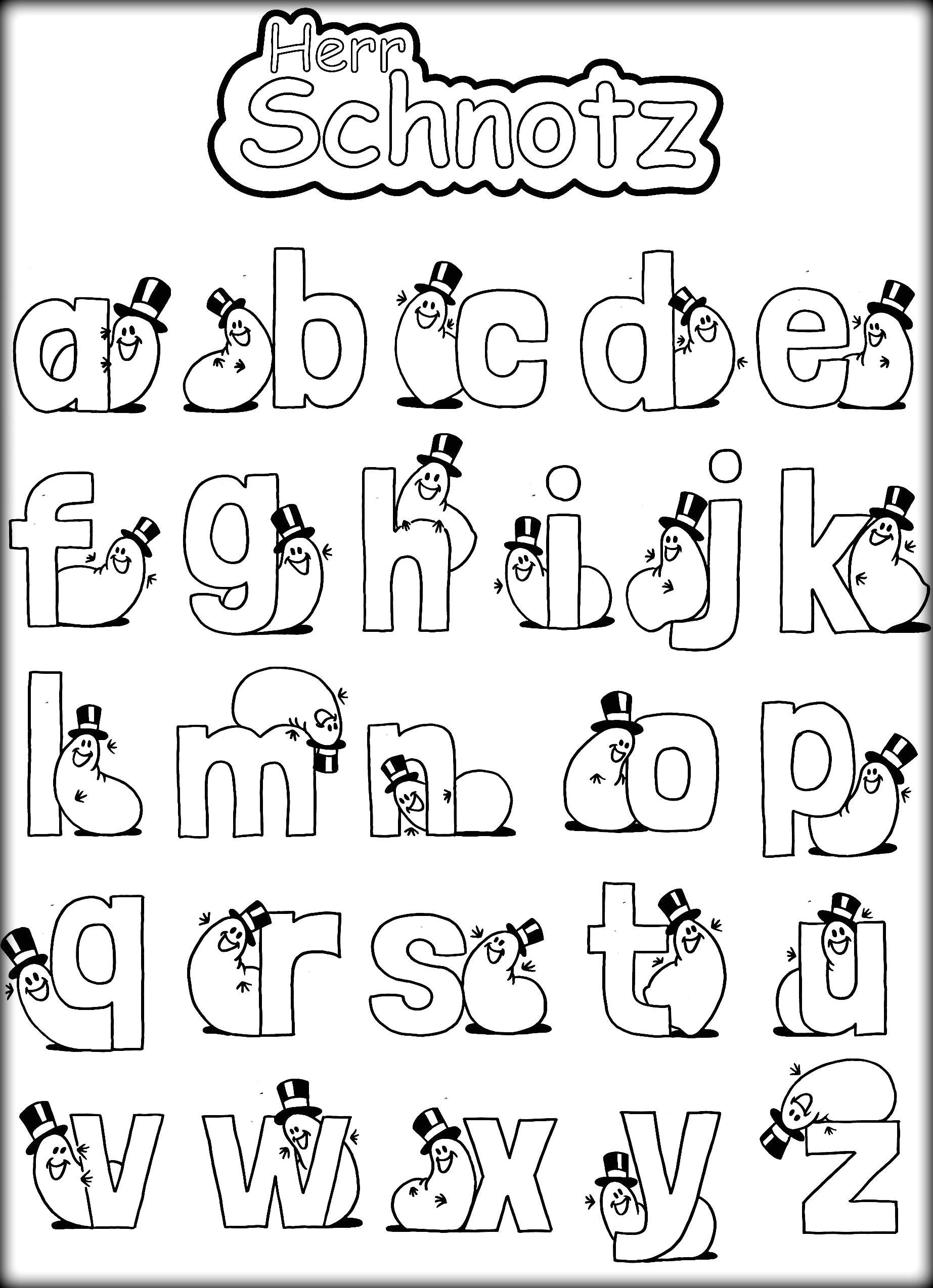 Coloring Pages for Letters Of the Alphabet Alphabet with Funny Letters Coloring Pages Coloring Home