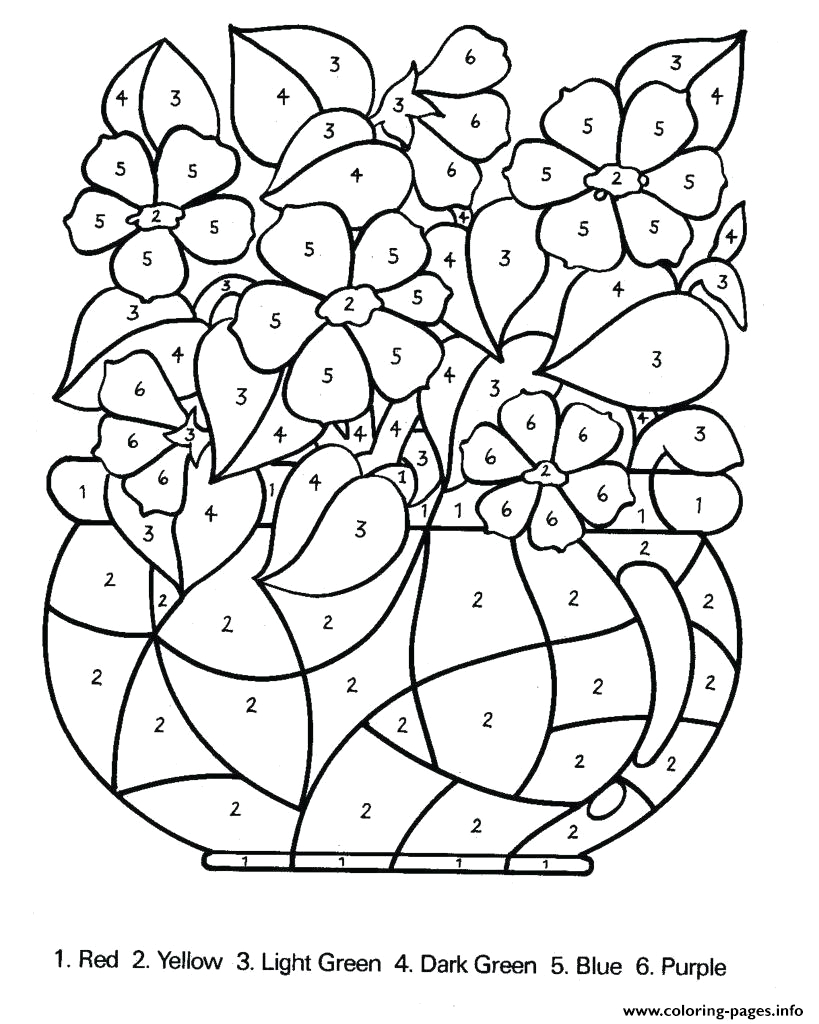 color by number difficult in for adults printable coloring pages book