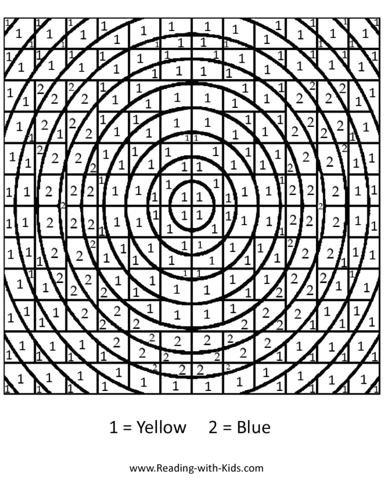 difficult coloring pages with numbers