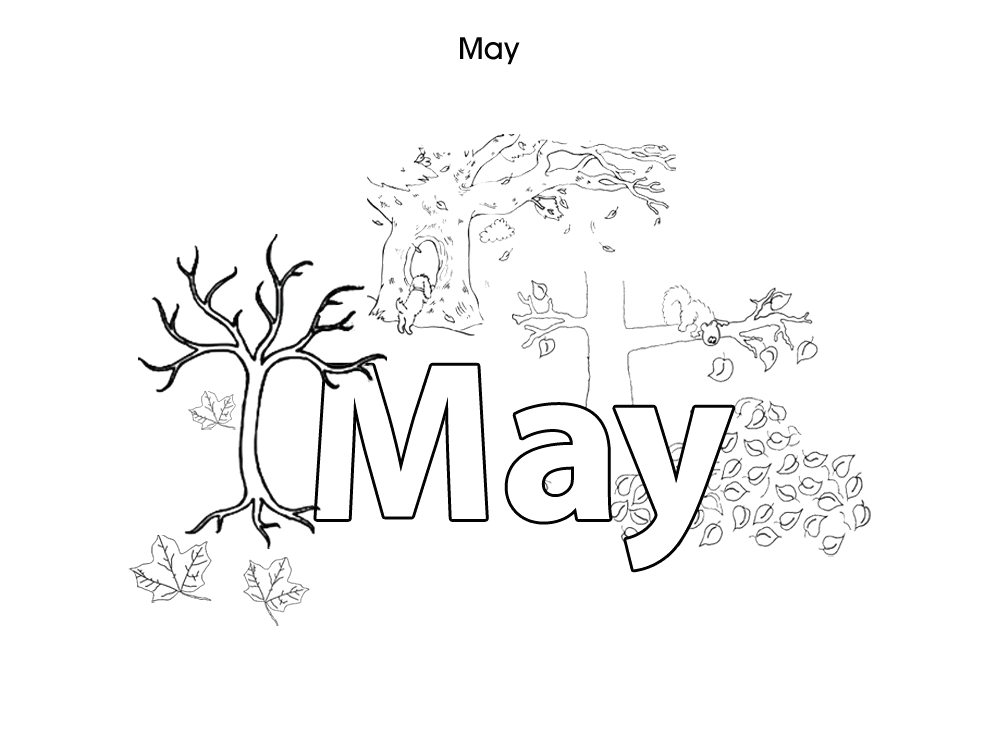 months of the year colouring pages for kids may