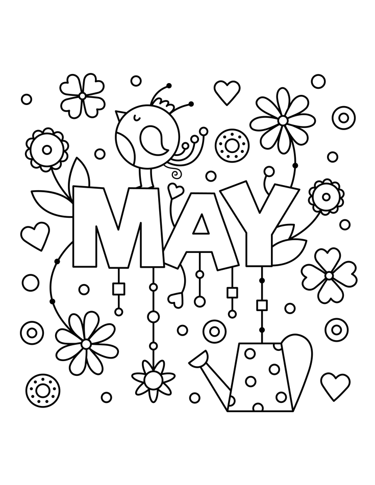 Coloring Pages for the Month Of May May Coloring Pages Best Coloring Pages for Kids