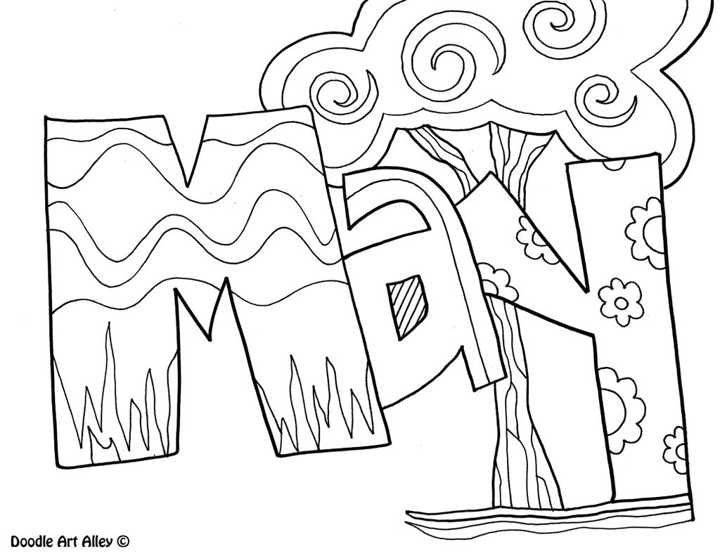 month year coloring pages