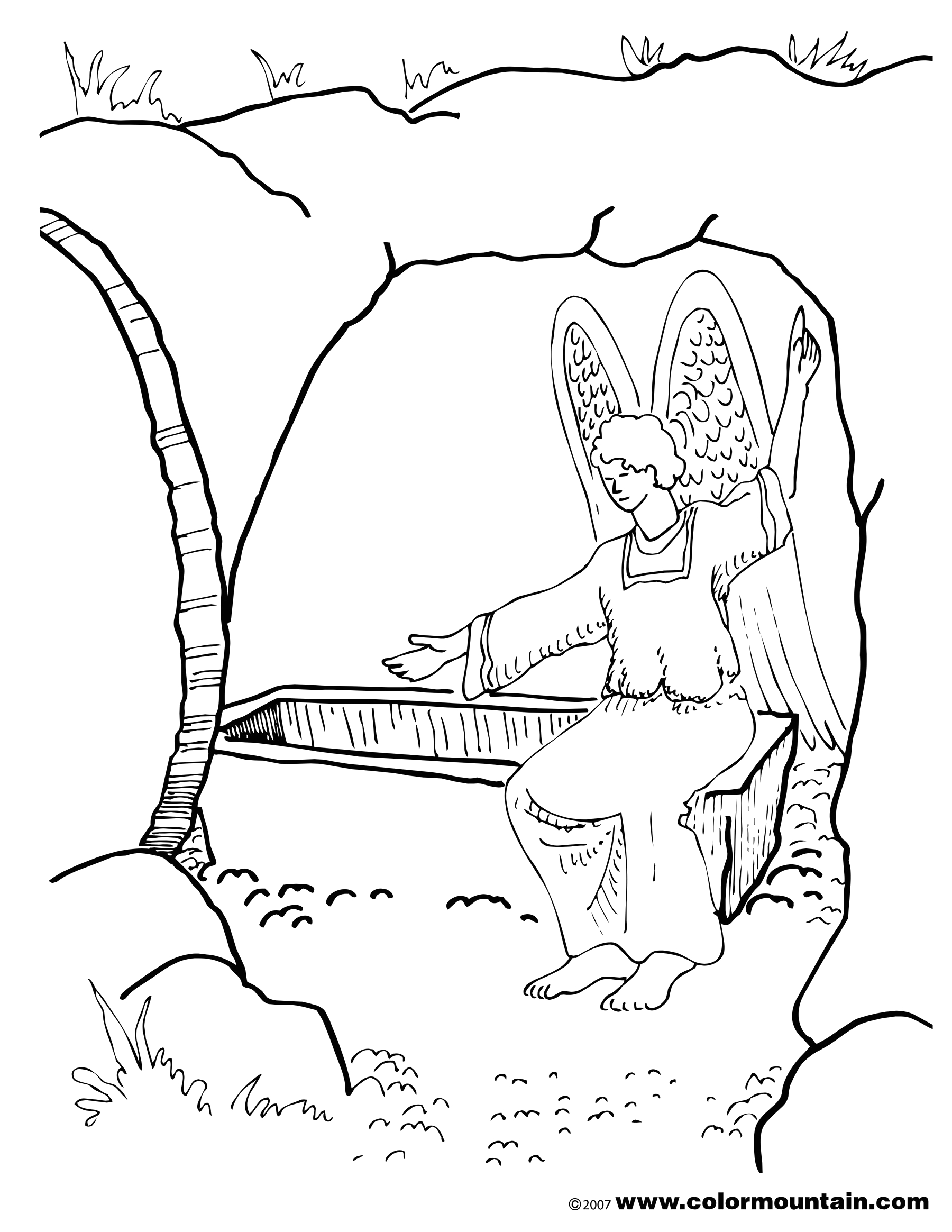 Coloring Pages for the Resurrection Of Jesus Christ Resurrection Coloring Page Create A Printout