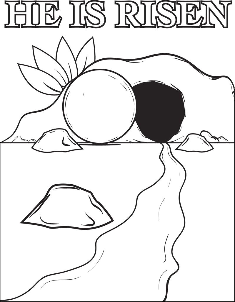 the resurrection of jesus christ coloring page a4593